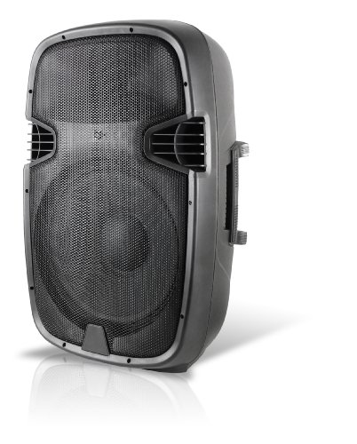 Technical Pro ABS Molded PW1555UI 15-Inch Two-Way Active Loudspeaker with USB/SD Card Inputs and iPod Docking Station