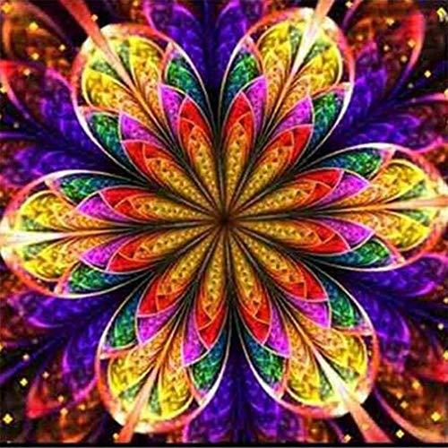 Windoson 5D DIY Diamond Painting Cross Stitch Kit Full Drill Crystals Wall Art Decor 5D Diamond Painting Rhinestone Pictures Embroidery Arts Home Decor, Mandala (❤️A)