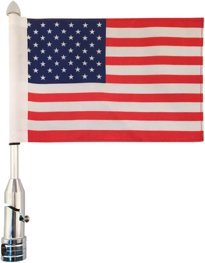 Amazon.es: H HILABEE Mástil Aluminio Exterior con Bandera de España/Estante de Aleación de Aluminio con Bandera para Equipaje - Estados Unidos