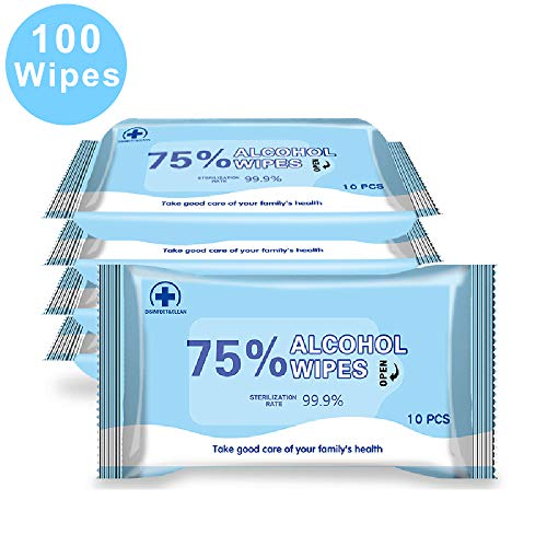 5 Pack 1 Pack//10 Wipes,7.08X5.5 Disinfectant Wipes 75/% Alcohol Wet Wipes Cleaning Wet Wipes Antiseptic Sterilization Wipes Daily Disinfecting Use for Hand Home House