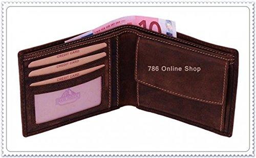 Leder Herrenbörse Herren Börse (177B) Portemonnaie Geldbeutel Portmonee Portmonai Geldbörse Neu
