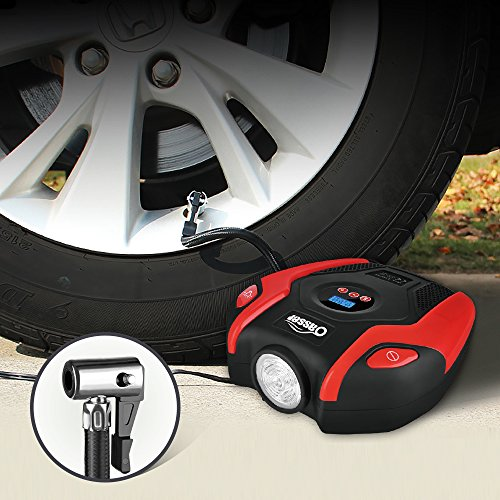 Oasser Air Compressor Tire Inflator Pump Electric Portable Air Infaltor with Digital LCD LED Light Auto Tire Pump 12V DC 150 PSI for Car Truck Bicycle RV and Other Inflatables P6 by Oasser (Image #1)