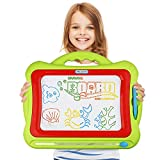 Magnetic Drawing Board,Kids Magna Doodle Erasable Writing Sketch Board Pad Upgrade Version Green