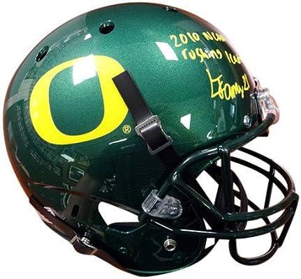 Lamichael James Signed Oregon Ducks Green Riddell Football Helmet