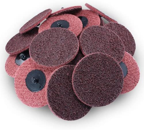 "3"" Black Hawk Red Surface Conditioning Quick Change Discs Medium Prep Pad - 25 Pack"