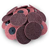 3'' Black Hawk Red Surface Conditioning Quick Change Discs Medium Prep Pad - 25 Pack