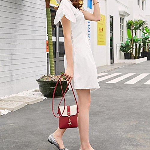 E Bag Borsa Sacchetto Telefono di Borsa Spalla Coin Pelle Moda Borsa Piccolo Ciondolo Cervo Crossbody Donna Donna Messenger wxFPqRTZ