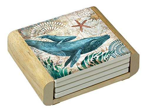 Counter Absorbent Coasters Monterey Bay Whale