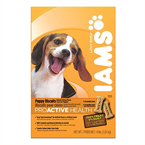 Biscuits 4lb Box (IAMS PROACTIVE HEALTH Puppy Biscuits Natural Chicken Flavor 4)