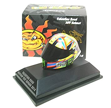 Minichamps 398140076 – AGV casco Rossi – Moto GP Test Sepang 2014 – Escala 1/