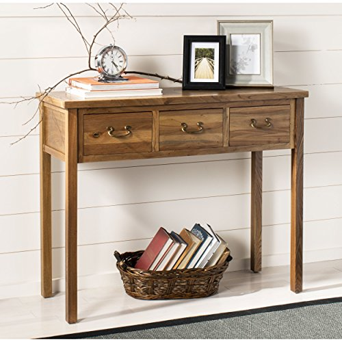 Safavieh American Homes Collection Cindy Oak Console Table For Sale