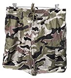 Ocean Pacific OP Mens Elastic Waist Swim Short Trunks - Tugger Above Knee 20.5' Outseam CAMO/Green, Size: X-Large.