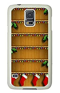 Samsung Galaxy S5 Christmas Shelves Homescreen Holiday134 PC Custom Samsung Galaxy S5 Case Cover White by icecream design