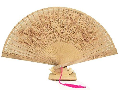 白檀扇子  龍 鳳凰 MS1154 暑さ対策気品の節電グッズ プレゼント 父の日 母の日 敬老の日 お中元 お歳暮(双龍)