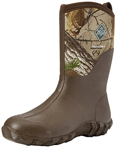 Muck Boots Herren Fieldblazer 2 Mid Gummistiefel Braun (Chocolate Brown/ Realtree Xtra)