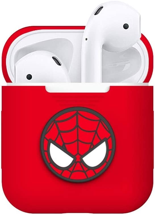 Style : B HJAZ Airpods2 Cover Wireless Bluetooth Headset Set Spider-Man Iron Man Cute Ultra-Thin Silicone Dust-Proof Protect Your Bluetooth Headset from harm