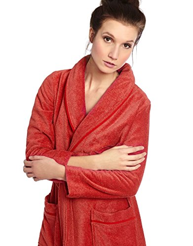 Cinderella-Long-Womens-Terry-Cotton-Bath-Robe-Toweling-With-Belt-Raspberry