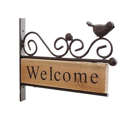 Spachy Cartel de Bienvenida para Puerta de jardín, Cartel de ...