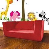Shopisfy Children's Double Foam Mini Sofa Seat - Red