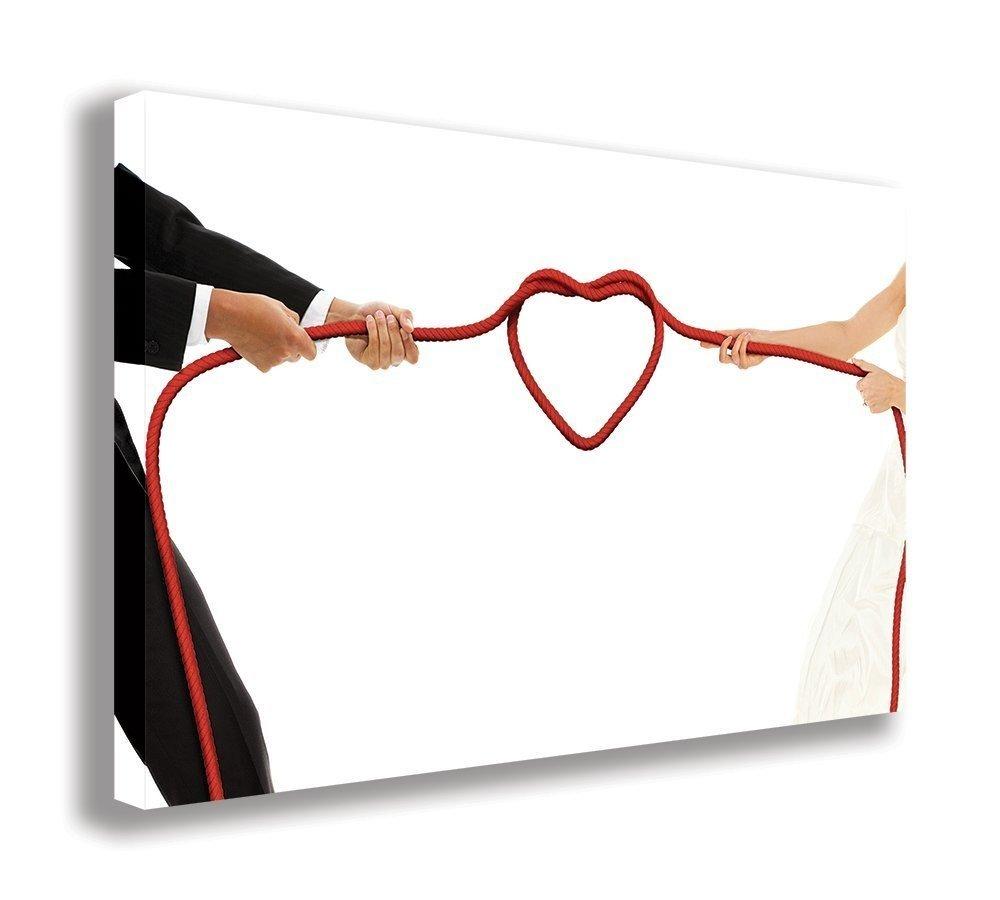 Hochzeit, die Knoten Engaged Braut Bräutigam auf Leinwand, (111,8 x 66 cm 110 x 65 cm) B074NBD2DM | New Listing