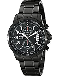 Mens 13787 Specialty Black Ion-Plated Stainless Steel Watch