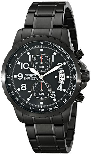 Invicta Men's 13787 Specialty Black Ion-Plated Stainless Steel ()