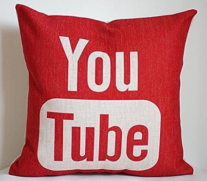 jgartstore almohada 18 x 45,72 cm funda de almohada de YouTube, YouTube,