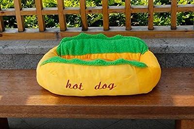 Hot Dog Design Pet Dog Bed ,Removable and Washable Pet Mat Dog House
