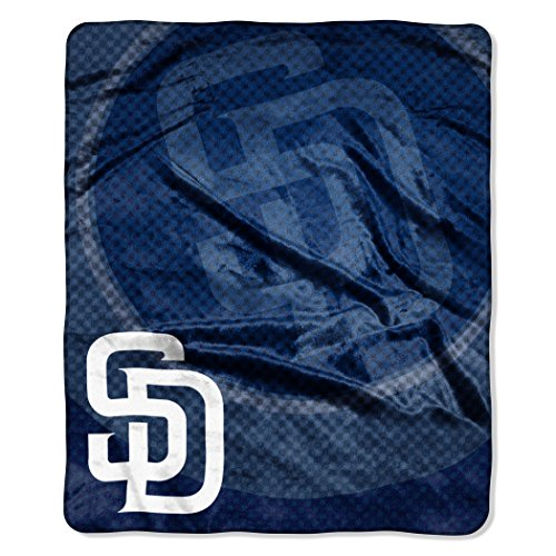 The Northwest Company MLB San Diego Padres Retro Plush Raschel Throw, 50