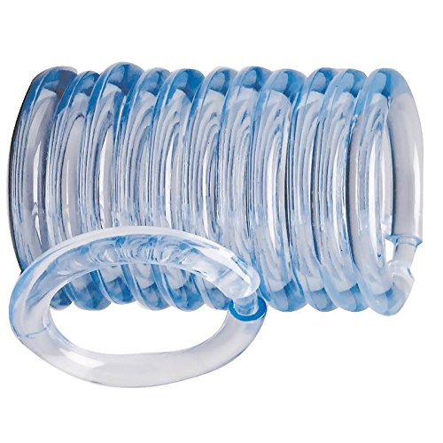 Rocky Mountain Goods Plastic Curtain Rings - 12 Pack - Click securely in place - Unbreakable plastic with - True O ring design - Slides easily without screeching like metal - Ring O Curtain