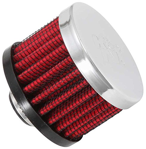 K&N 62-1320 Vent Air Filter / Breather: Vent Air Filter/ Breather; 0.375 in (10 mm) Flange ID; 1.5 in (38 mm) Height; 2 in (51 mm) Base; 2 in (51 mm) Top (Breather Filter)