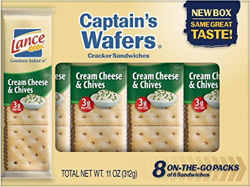 Lance Cream on Captain Wafers Sandwich Crackers, Cheese and Chive, 11 oz (Cream Sandwich)