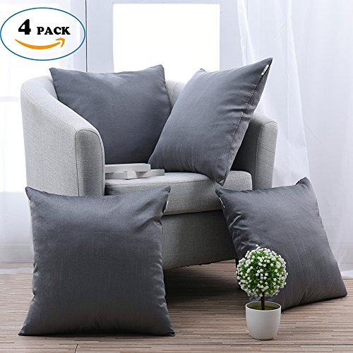 Attractive Throw Cushion Covers For Home Sofa   PONY DANCE Decorative Throw Pillow  Covers Handmade Square Cushion Shams For Chair Including Hidden Zipper  Design,Gun ...