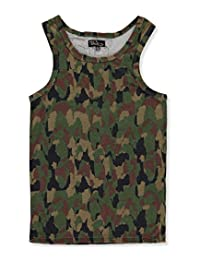 "Galaxy by Harvic Big Boys' ""Camo Cloud"" Tank Top"