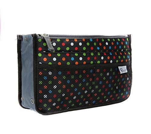Periea Handbag Organizer - Chelsy (Large, Black/Multicolored)