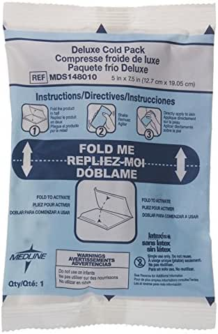 Medline MDS148010 Instant Cold Packs, Deluxe, Sweatless, 5