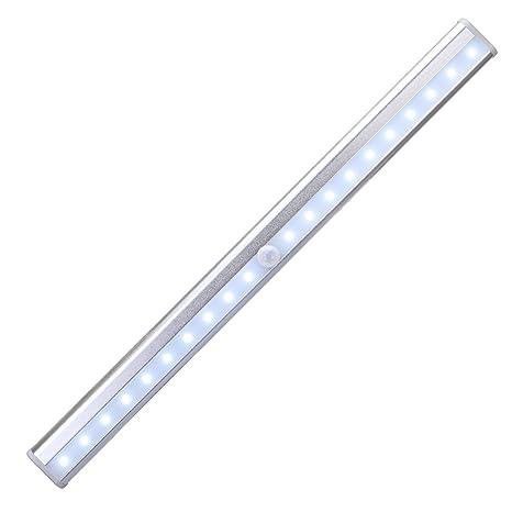 [Versión Integrada] KEDSUM Sensor de Movimiento de Gabinete de Luz, 20 LED recargable