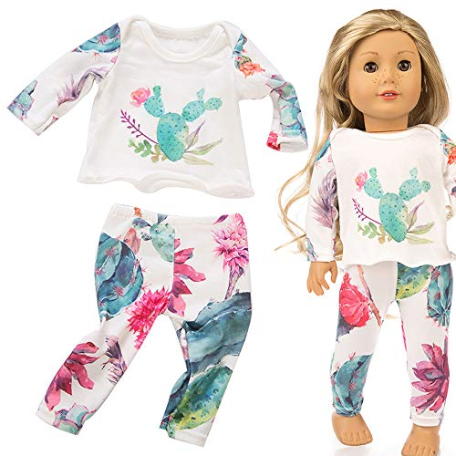 Lavany Doll Clothes Cute Winter Pajama Outfits for 18 Inch American Girl Doll Toy -