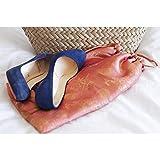 Shoe Pouch - Silk Jacquard