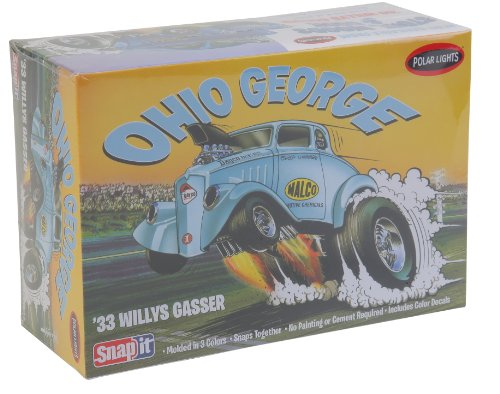Polar Lights 1933 Willys Coupe Snap Draggin Snap Model Bu...