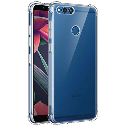 pretty nice 13d53 7b439 TheGiftKart Honor 7X Flexible Shockproof TPU Back Case Cover | Ultimate  Edge Protection | Cushioned Edges | Anti Slip Design (Transparent)