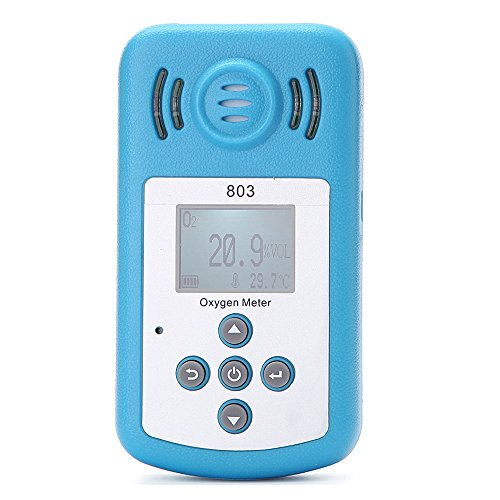 KKmoon Oxygen Meter Portable Oxygen(O2) Concentration Detector with LCD Display and Sound-light -