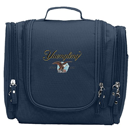 - Travel Toiletry Bags Yuengling Premium Beer Washable Bathroom Storage Hanging Cosmetic/Grooming Bag For Household Business Vacation, Multi Compartments, Waterproof Lining