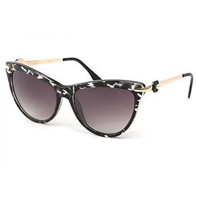8d8ef4f6e23875 Eye Wear Lunettes Soleil Wave avec monture marbrée dorée - Femme ...