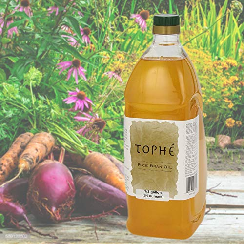 Rich in Vitamin E and Gamma-Oryzanol | Unfiltered, Non Winterized, No Trans Fat and Heart Healthy | 1/2 Gallon By Tophe