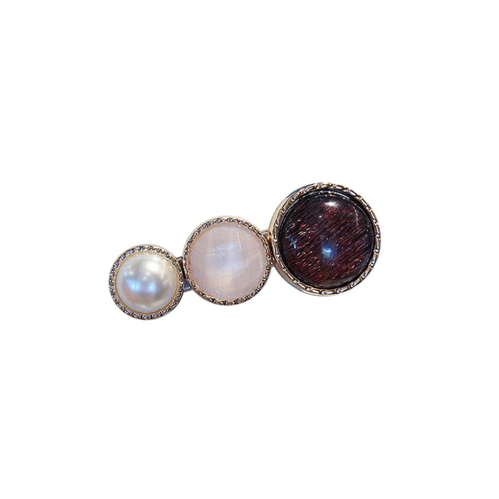 C French Fashion Sweet Retro Pearl Multicolor Hairpin Girl Jewelry