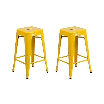 Amazoncom Vogue Furniture Direct 24 High Barstools Backless