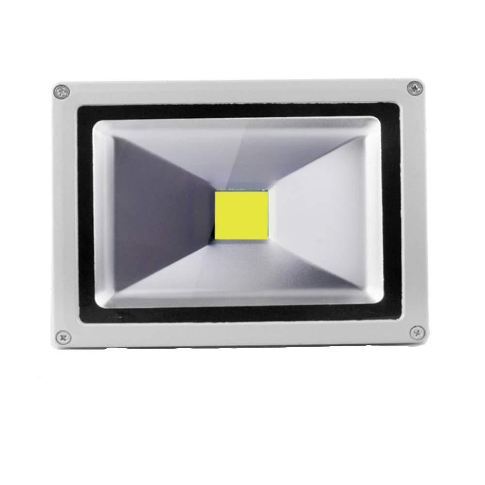 Color Plata SAILUN 10X10W Blanco c/álido luz Foco Proyector LED Blanco c/álido foco exterior Foco de pared aluminio IP65 Impermeable