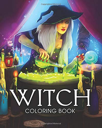Witch Coloring Book: A Coloring Book for Adults Featuring Beautiful Witches, Magical Potions, and Spellbinding Ritual Scenes Paperback – September 25, 2018 Coloring Book Cafe Independently published 1724042270 Art / General