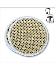 FACILCASA zamiennik metalowego krzesła bistro – okrągłe siedzisko, wymienne tworzywo sztuczne do krzesła Thonet – szybka wymiana i oszczędność dzięki naszemu zamiennikowi słomy Vienna (średnica 41 cm – nr 2 biały pierścień)